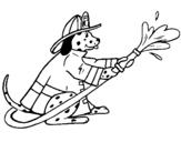 Dibujo de Dálmata bombero para colorear