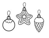 Dibujo de Decoraciones de Navidad para colorear