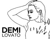 Dibujo de Demi Lovato Confident para colorear