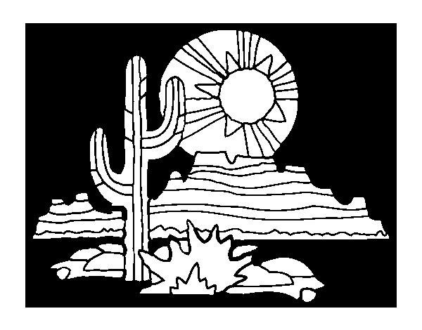 Dibujo de Desierto de Colorado para Colorear - Dibujos.net
