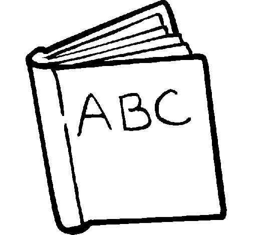 Dibujo de Diccionario para Colorear