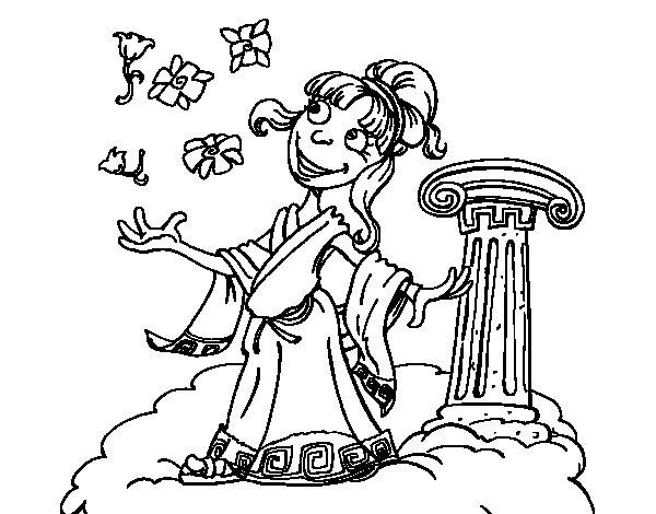 Dibujo de Diosa Atenea para Colorear