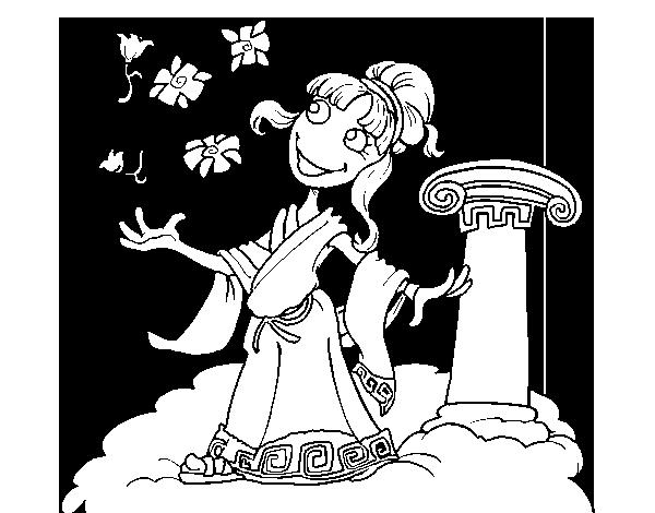 Dibujo de Diosa Atenea para Colorear - Dibujos.net