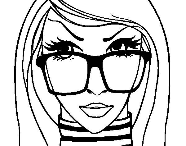 Dibujo de Diseñadora de moda para Colorear