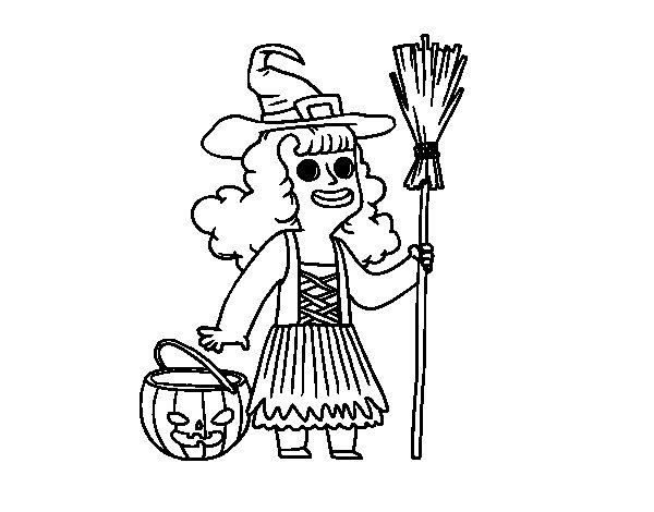Dibujos Para Colorear Hello Kitty Halloween Diablita