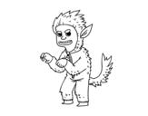 Dibujo de Disfraz de hombre lobo para colorear