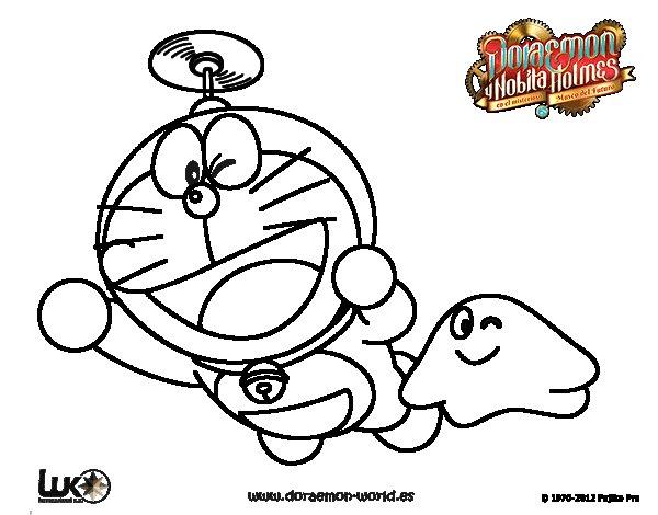 Dibujo de Doraemon volando para Colorear - Dibujos.net