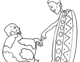 Dibujo de Dos africanos para colorear
