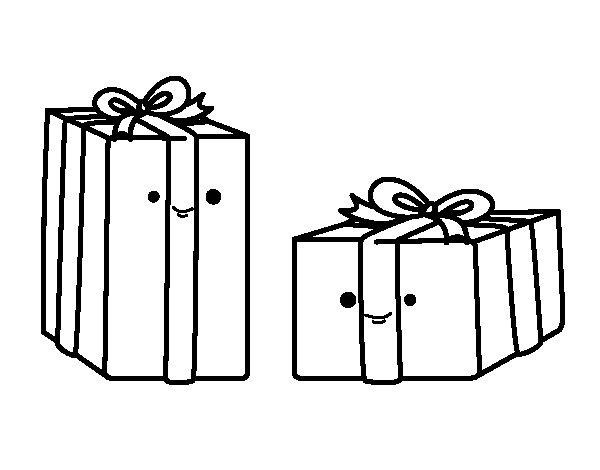 Dibujo de Dos regalos para Colorear