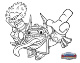 Dibujo de Double dare Trigger happy para colorear