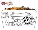 Dibujo de Dr Oetker Junior Chef Molde la granja para colorear