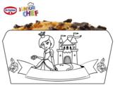 Dibujo de Dr Oetker Junior Chef Molde princesa para colorear