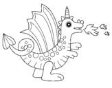 Dibujo de Dragón alegre II para colorear