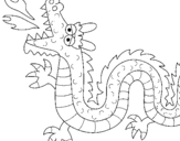 Dibujo de Dragón escupiendo fuego II para colorear