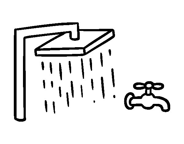 Baños Infantiles Para Colorear:Bathroom Faucet Coloring Page