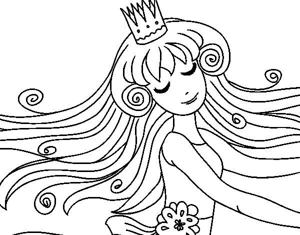 Dibujo de Dulce princesa para Colorear