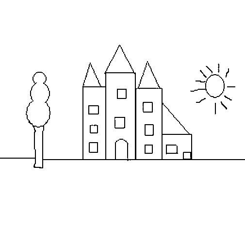 Dibujo de Edificio para Colorear