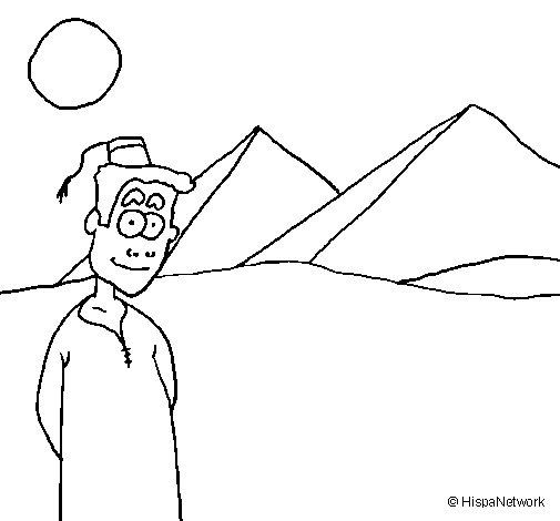 Dibujo de Egipto 1 para Colorear