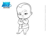 Dibujo de El Bebé Jefazo vestido con traje