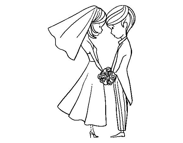 Dibujo de El Marido y la Mujer para Colorear