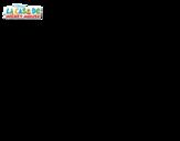 Dibujo de El Pato Donald vaquero para colorear
