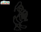 Dibujo de El Pato Donald para colorear