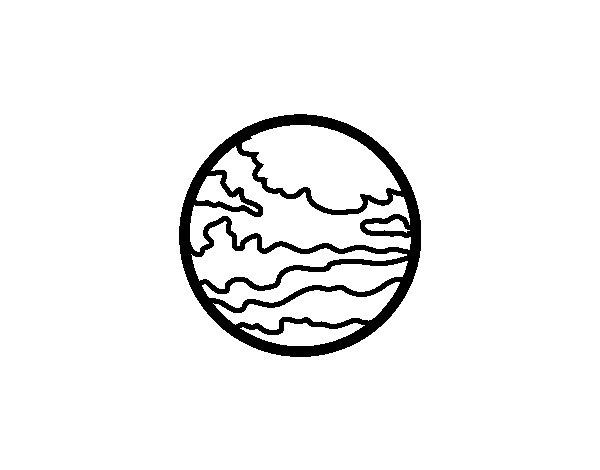 Dibujo de El planeta Marte para Colorear