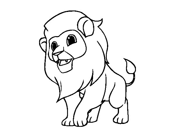 Dibujos De Rey Leon Para Colorear: Dibujo De El Rey De La Selva Para Colorear