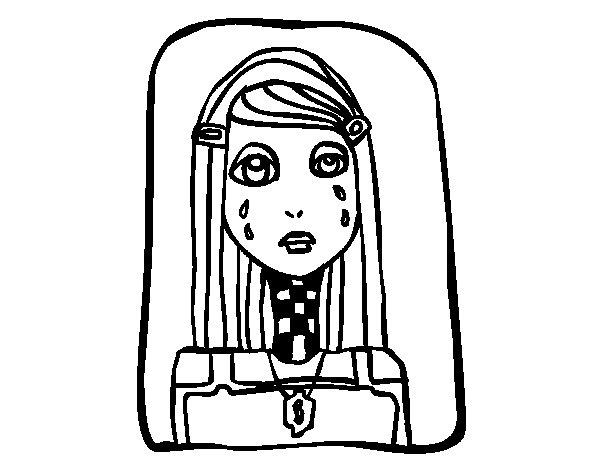 Dibujo de Emo llorando para Colorear