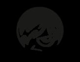 Dibujo de Emoticono Emo