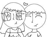 Dibujo de Enamorados 1