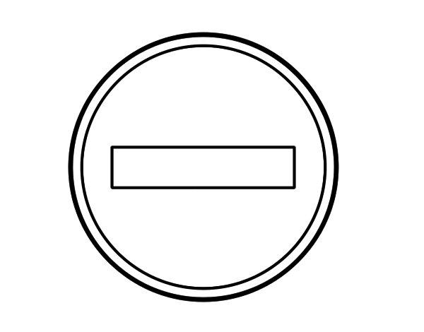Dibujo de entrada prohibida para colorear - Colores para pintar una entrada ...
