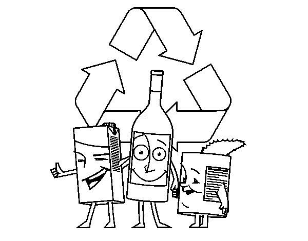 RECICLEMOS Y CUIDEMOS EL MEDIO AMBIENTE: FICHAS DE TRABAJO |Reciclar Para Colorear
