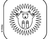 Dibujo de Erizo II para colorear