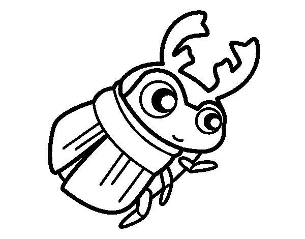 Dibujo de Escarabajo pelotero para Colorear - Dibujos.net