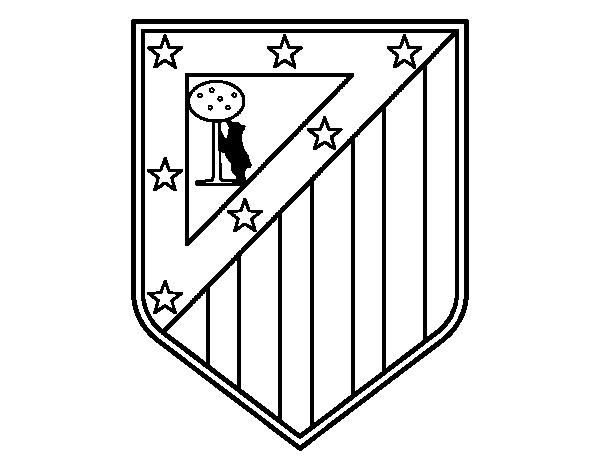 Dibujo de Escudo del Club Atlético de Madrid para Colorear ...
