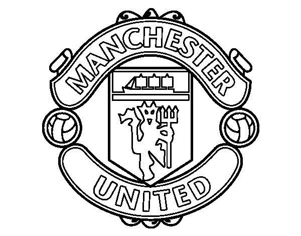 Dibujo de Escudo del Manchester United para Colorear