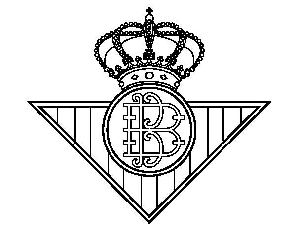 Dibujo de Escudo del Real Betis Balompié para Colorear - Dibujos.net