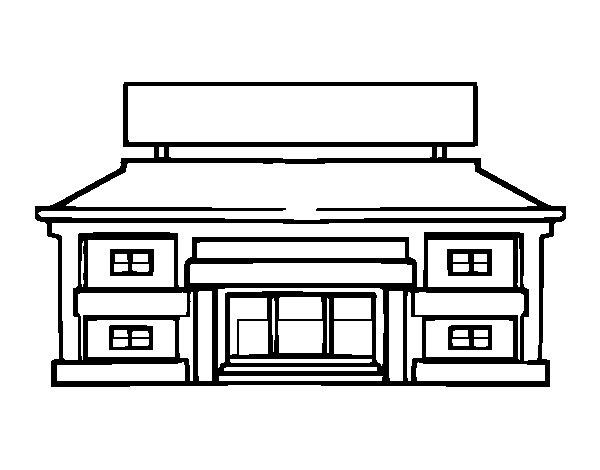 Dibujo de Escuela primaria para Colorear - Dibujos.net