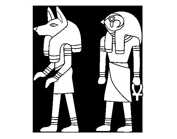 Dibujo de Esfinges egipcias para Colorear - Dibujos.net
