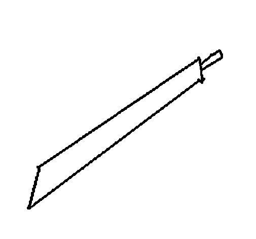 Dibujo de Espada para Colorear