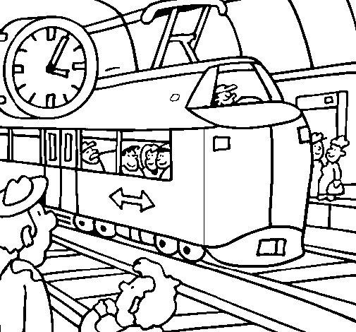 Dibujo de Estación de ferrocarriles para Colorear