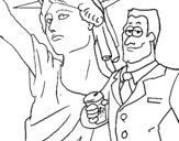 Dibujo de Estados Unidos de América para colorear