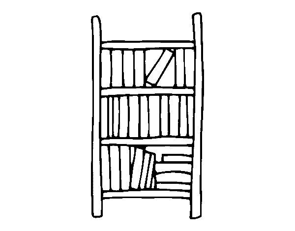 Dibujo de estanter a para colorear for Comedor para dibujar