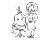 Dibujo de Estilista peluquera