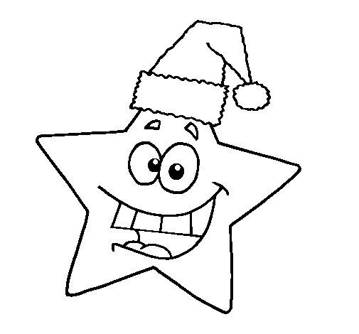 Dibujo de estrella de navidad para colorear - Dibujos navidad en color ...