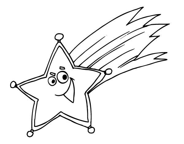 Dibujo de Estrella fugaz para Colorear - Dibujos.net