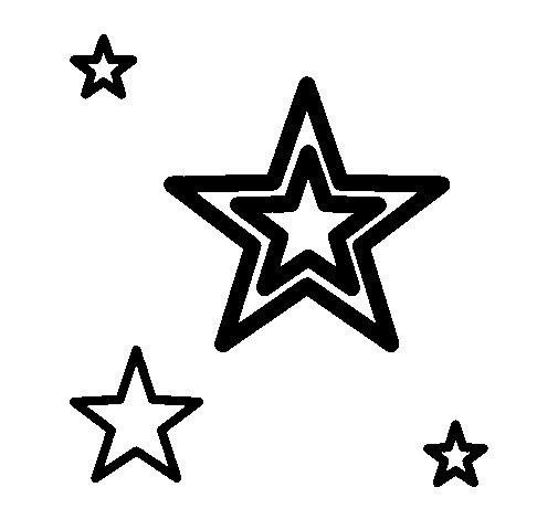 Dibujo de Estrellas para Colorear