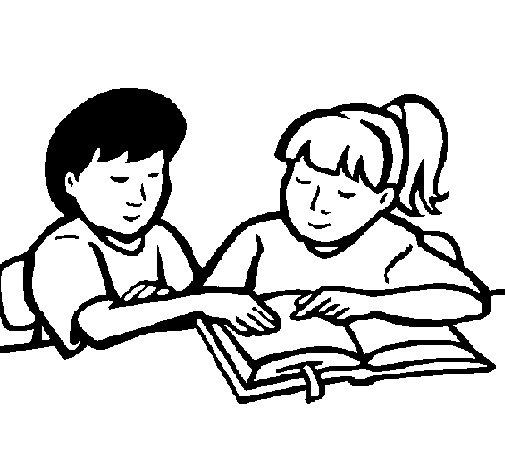Dibujo de Estudiantes para Colorear