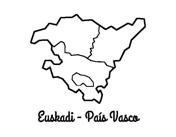 Dibujo de Euskadi - País Vasco para Colorear